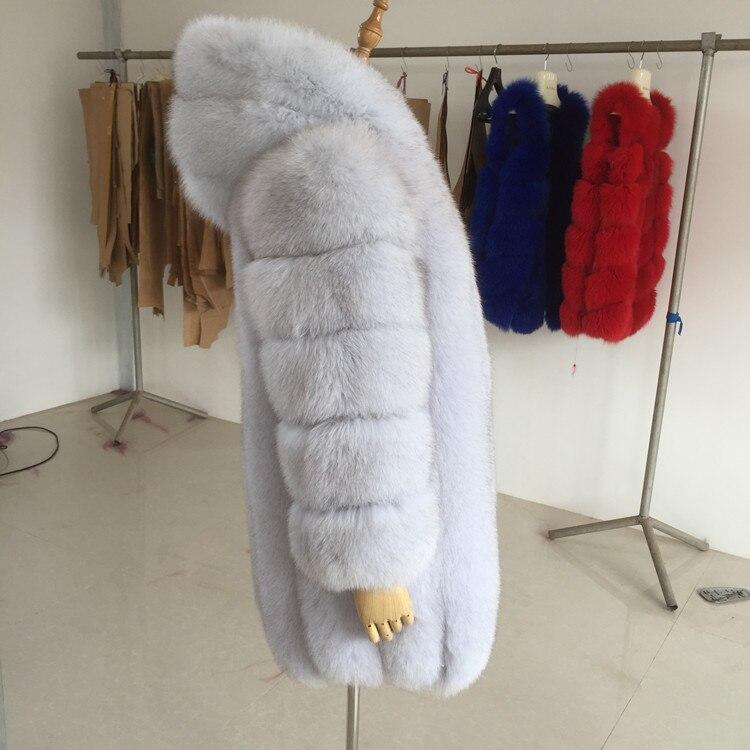 Nouvelle 2017 Gray True Renard De Dames Color Mode Fourrure Manteau Coréenne Tout La dark Version Dans Longue Peau Section dHxUwHrqZ