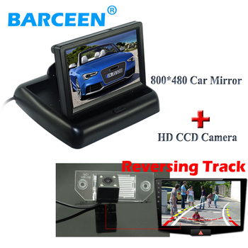 """Universal foldable car display monitor 4.3"""" and car  parking camera +Dynamic track line  original use for ford focus sedan"""
