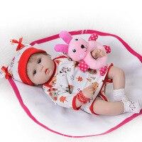 43cm Silicone Reborn Baby Dolls real baby doll alive Kids Bebes Reborn menina boneca Birthday Christmas Gift