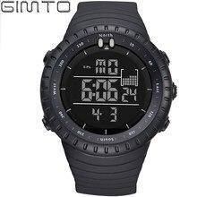 2017 GIMTO Marca LED Digital Reloj de Los Hombres Militar Deportes Relojes De Choque Negro Impermeable de Buceo de Silicona Hombre Reloj relogio masculino