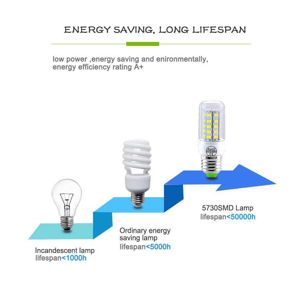 E27 LED Bulb E14 LED Lamp 220V 24 36 48 56 69 72LEDs Bombillas Ampoule LED E27 E14 Corn Light Bulbs For Home Chandelier Lighting