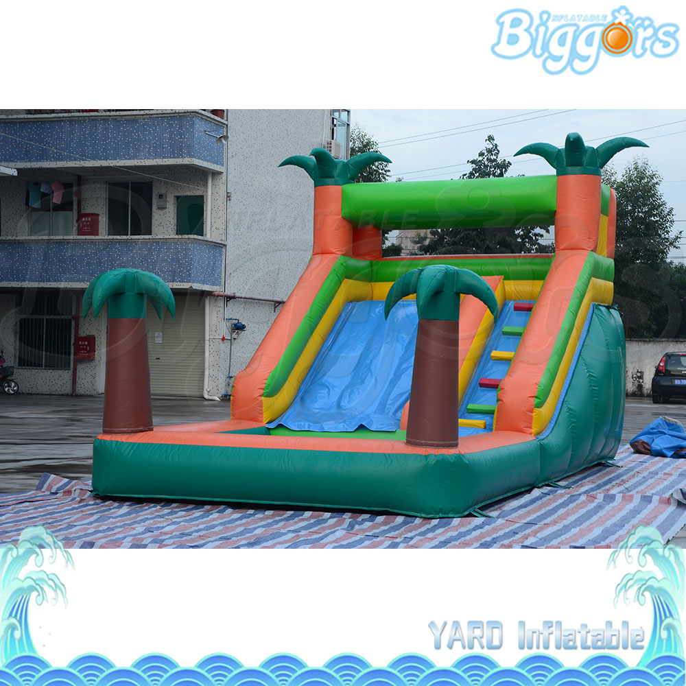 Palm Tree Inflatable Slide Bounce Castle Jumping Water Slide For Sale funny inflatable slide water slide for sale