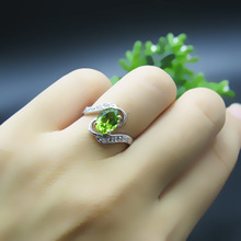 цена на 925 silver plated Platinum Gold peridot Ring  fashion gift for women jewelry Fashion jewelry