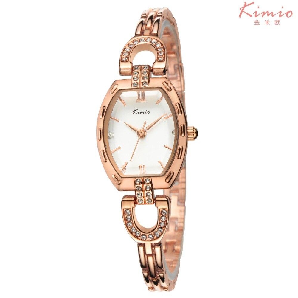 2016 Kimio top marque montres pour femmes strass cristal montres de luxe femmes dames analogique quartz-montre reloj mujer