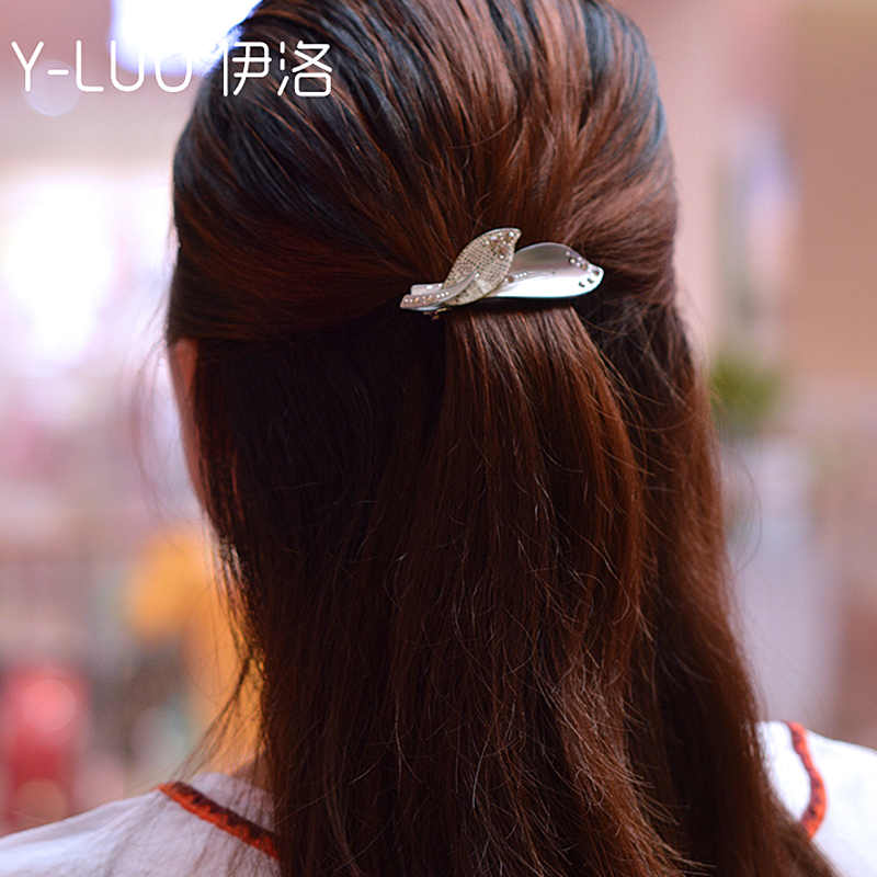 Women headwear hair decoration girl leaf hair clip barrettes small cute hair accessories for women women girl bohemia bridal camellias hairband combs barrette wedding decoration hair accessories beach headwear