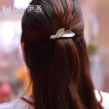 Women headwear hair decoration girl leaf clip barrettes small cute accessories for women