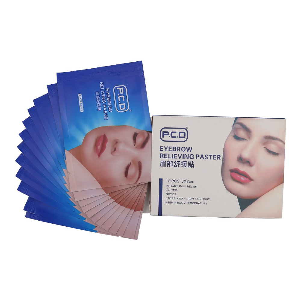 Pcd Permanent Makeup Accessories Pain Reliving Paster For Eyebrows