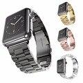 Pulseiras de relógio de aço inoxidável hengrc para apple watch strap ligação pulseira 38mm 42mm smart watch banda de metal para acessórios iatch