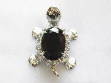 Luxury Jewelry Girls Turtle  Sterling Silver BLACK STONE CROSS Tortoise Female Luxury pendants + Necklace
