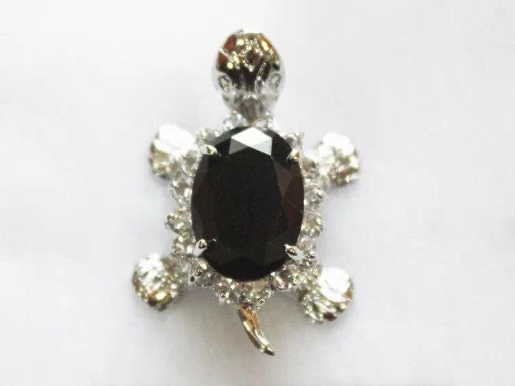 Luxury Jewelry Girls Turtle Sterling Silver BLACK STONE CROSS Tortoise Female Luxury pendants + Necklace marvel choker