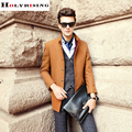 Clássico de inverno casacos de lã dos homens casaco fino jaquetas casuais moda masculina sobretudo dos homens sólidos 3 cores melhor qulity holyrising