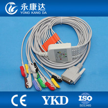 Nihon Kohden 10 lead EKG cable, compatible with Cardiofac 6353 ekg machine,IEC,Grabber