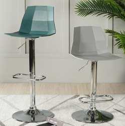 Нордическая барная спинка кресла Семейные современные ровные цилиндры табурет поворотный креативный кассовый барный стул