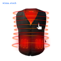 NEW Men Heated Vest Winter Camping Warm Thick Vest Ski Hunting Usb Charging Vest Woman 3