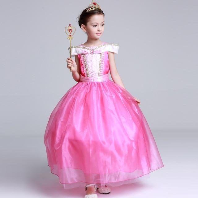 Princesa Aurora vestido de niña niños Cosplay vestido de Halloween trajes para niños niñas vestido de fiesta de tul 4 10 años en Vestidos de ...