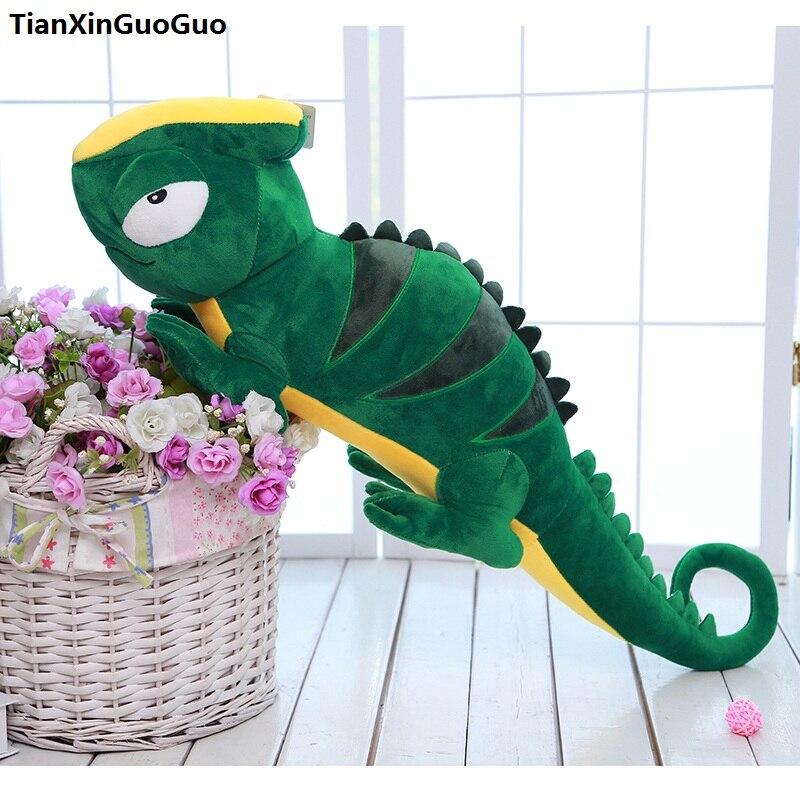 Grand 87 cm de bande dessinée vert Lézard peluche peluche poupée coussin creative cadeau d'anniversaire s0856