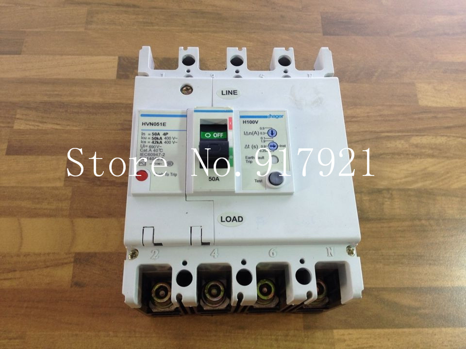 [ZOB] 4P50A HVN501E's residual current circuit breaker adjustable 10/30/50MA leakage protector