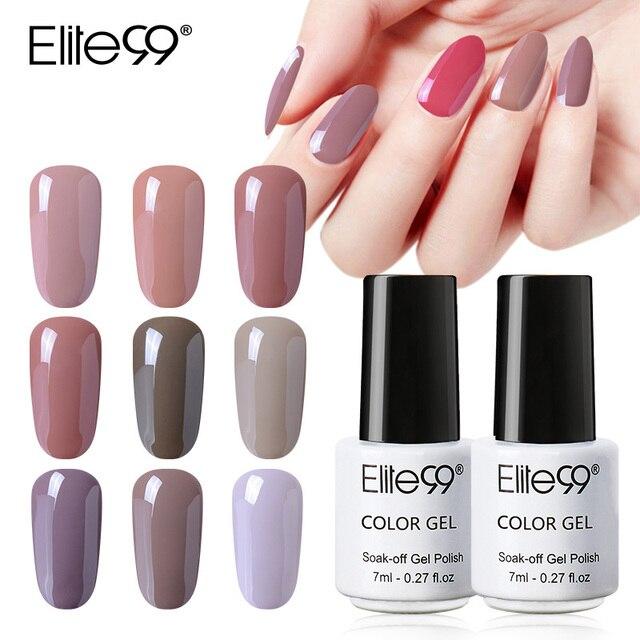 Aliexpress Buy Elite99 7ml Classic Gel Nail Polish Nude Color
