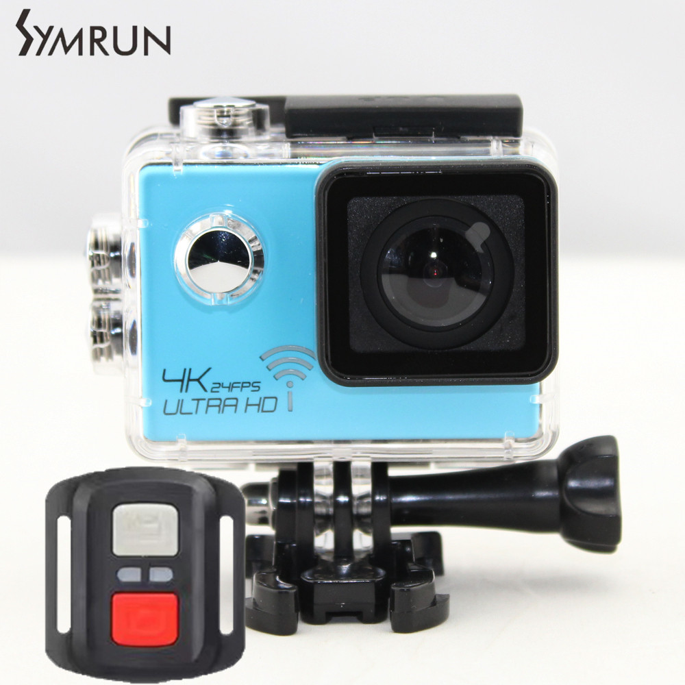 Symrun WiFi Style V3R 4K Action Camera 2.0 LCD 1080P Ultra HD Sports DV Helmet Cam Diving Go Waterproof Sport Camera With Remote add camera bag and two battery sport action camera 1080p hd 12mp sj4000 wifi extre sports camara gopro hero 3 go pro 4 cam style