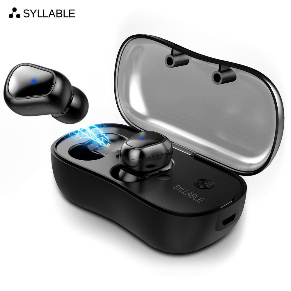 лучшая цена SYLLABLE D900P bluetooth V5.0 earphone noise reduction bluetooth headset for mobile phone wireless sports bass earphone