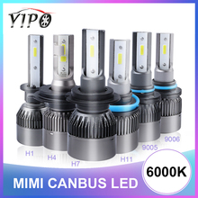 h4 led headlight H1 H3 H7 H11 9005 9006 9012 hb3 hb4 12V car light h4 led DOB chips auto healamp lampada 4500lm MINI 100W 6000K ev12 car headlight led h7 h4 h1 9005 hb3 9006 hb4 h11 60w 6000lm auto dob led lamp 12v ice blue car light plug and play