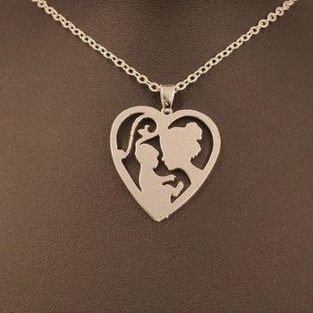 e8aa27c9c305 2019 Madre del Día de la madre y bebé mamá niños amor corazón colgante  collar chapado en oro joyería para Mujeres Hombres mujer niñas 107