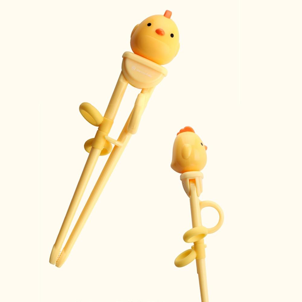 Палочки для еды, учебные палочки для еды, помощник-прикрепляемые правой рукой тренировочные палочки, мультфильм, анти-дислокация, безопасный