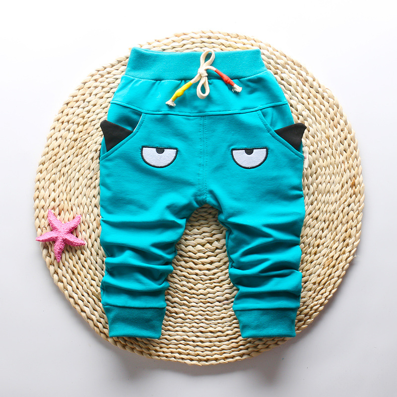DIIMUU 1-3T Autumn Fashion Boys Girls Pants Children Clothing Toddler Bottoms Kids Elastic Cartoon Cute Casual Long Trousers 4