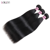 Lolly Hair Peruvian Straight Hair Bundles 3 Bundles Deal 100% Human Hair Weave Extensions Double Weft Non Remy Free Shipping