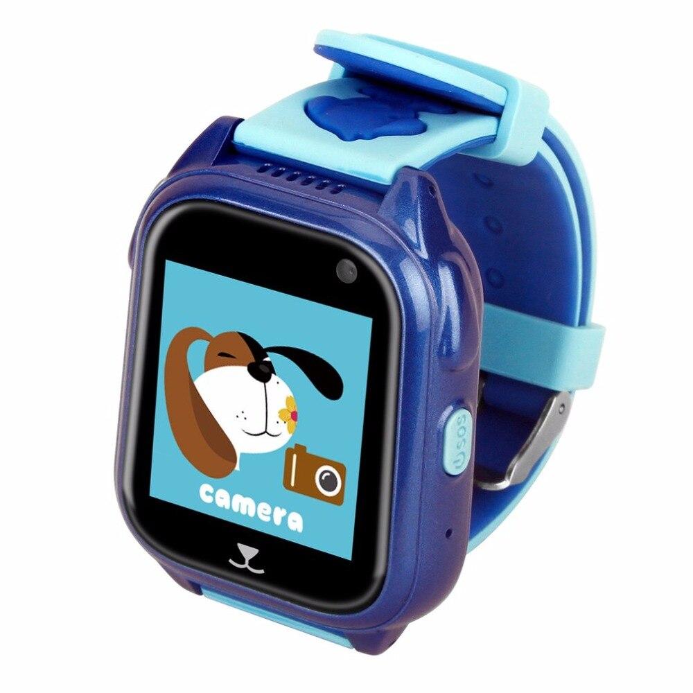 Montre de localisation GPS étanche profonde 1.44 pouces HD écran tactile carte SIM SOS enfants montre GPRS montre-bracelet de positionnement en temps réel