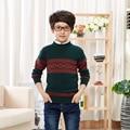2016 Crianças Bebés Meninos Camisolas Crianças Outono Inverno Primavera Camisola Knitting Tops Pulôver Suéter Crianças Blusas De Lã