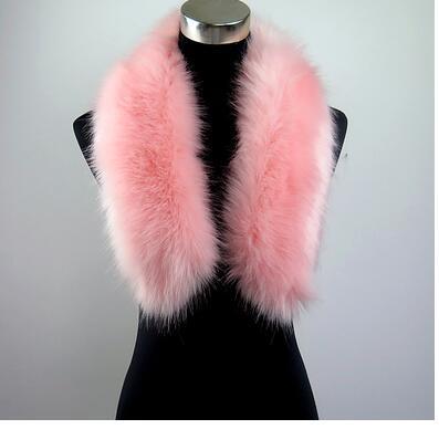 new photos sale uk low priced faux Raccoon fur scarf fur shawl long faux fur collar pink color ...