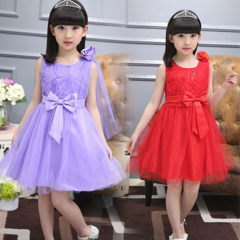 2017 Summer teenage girl children birthday party veil dress costume for toddler girl kids clothing Princess tutu dresses dress