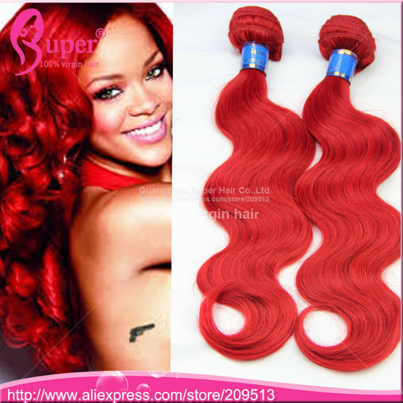 Red Hair Weaves Image Collections Hair Extensions For Short Hair