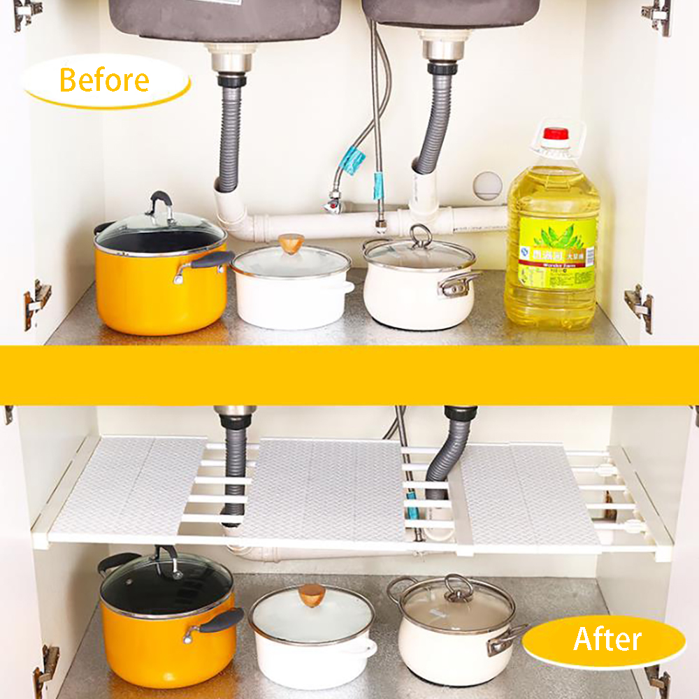 2019 New Adjustable Closet Storage Organizer Shelf Wall Mounted Kitchen Rack Wardrobe  Shelves Holders Home Decoration