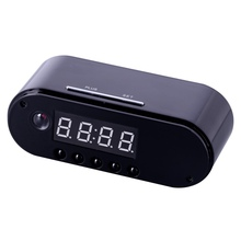 купить Z10 1080P WiFi Table Clock IP P2P MINI DVR Camera Video Recorder Automatic White balance Mini Camcorders Audio Video Recorder дешево