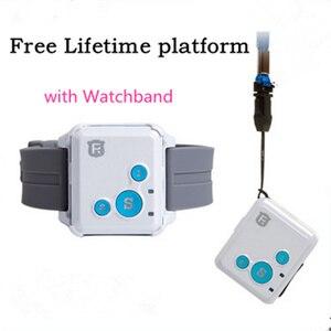 RF-V16 Mini GSM GPRS GPS Tracker SOS Communicator for Kids Child Elderly Personal lifetime web APP Tracking Two-way Talk