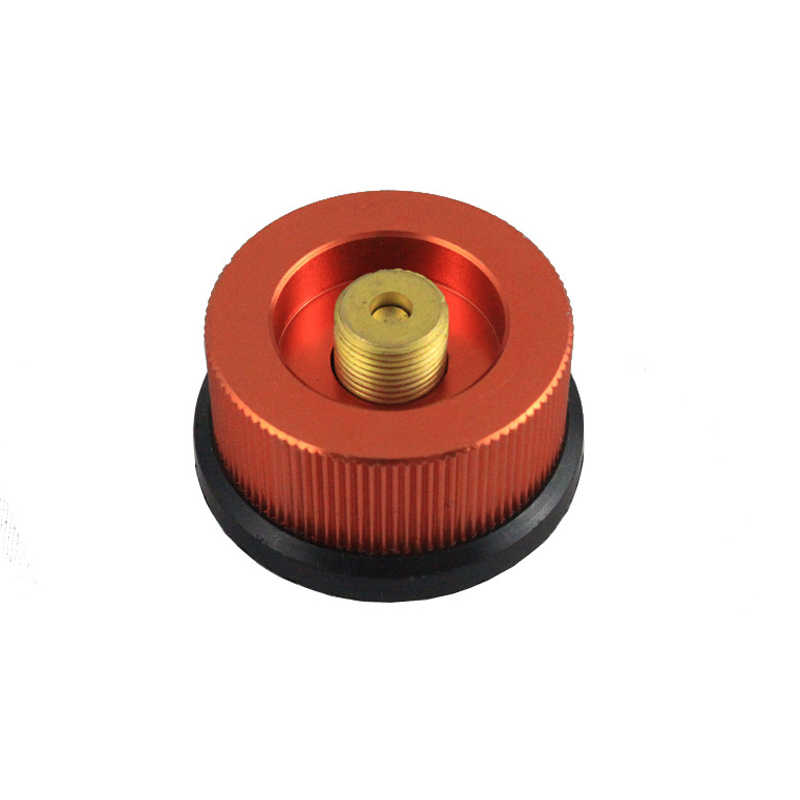 Outdoor Camping Hiking Kompor Adaptor Tipe Split Tungku Converter Konektor Auto-Off Gas Cartridge Tangki Silinder Adaptor