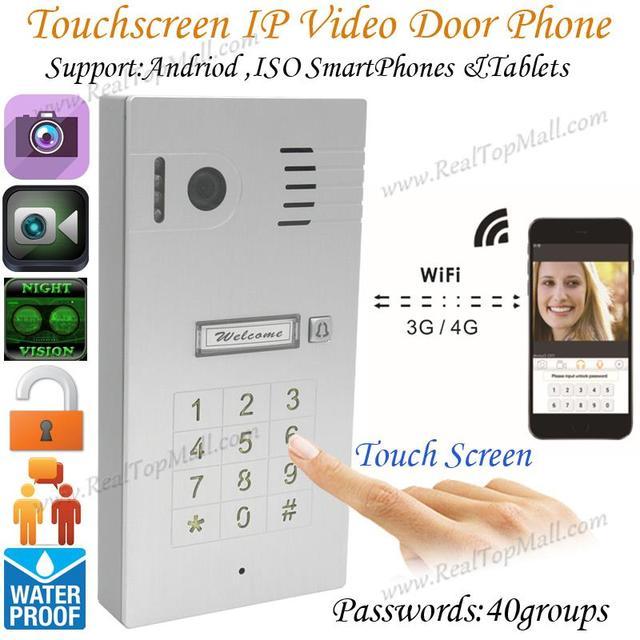 3G/4G Wireless Wifi Touchscreen Video door phone doorbell IP Camera Intercom Support IOS Android for Smart Phone Tablet