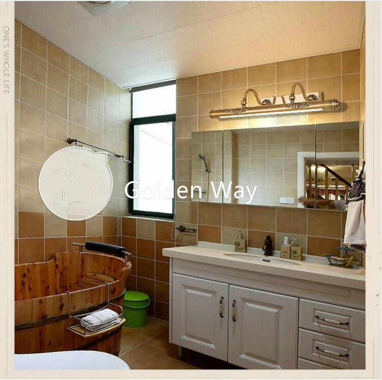 52cm 60cm 80cm Bathroom Mirror Lamp Waterproof Retro Bronze Cabinet Vanity Mirror Lights Led Wall Light Lamp Led Light Wall Lamp Led Wall Light Lamp Mirror Lampled Light Wall Lamp Aliexpress
