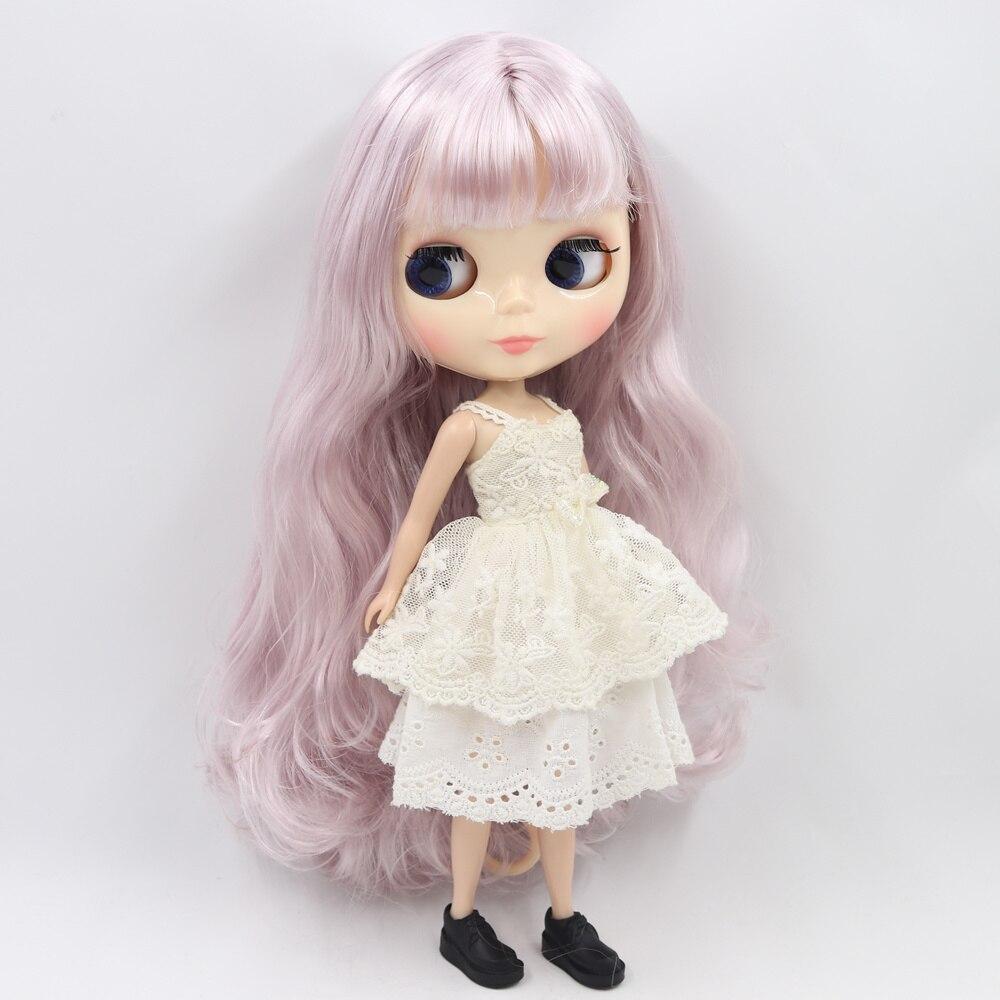 氷ヌード工場ブライス人形シリーズ番号 BL7262 薄紫髪と前髪白顔ノーマルボディ 1/6bjd  グループ上の おもちゃ & ホビー からの 人形 の中 2