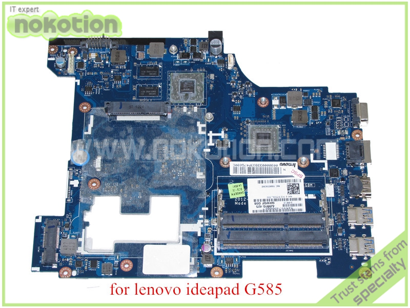 QAWGE LA 8681P REV 1 0 11S90000339 For lenovo ideapad G585 laptop font b motherboard b