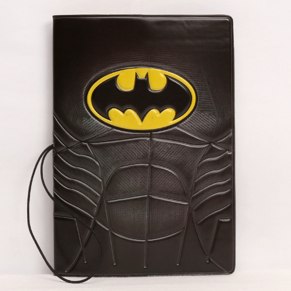 Fashion Cartoon Batman Passport Holder ID Card Holder 3D Design PVC Leather Business Card Bag Passport Cover 14*9.6CM