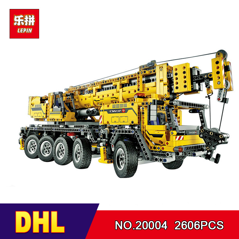 LEPIN 20004 2606Pcs Technic Motor Power Mobile Crane Mk II Model Building Kits Blocks Bricks Christmas Gift Toy 42009 DHL free shipping dining stool bathroom chair wrought iron seat soft pu cushion living room furniture