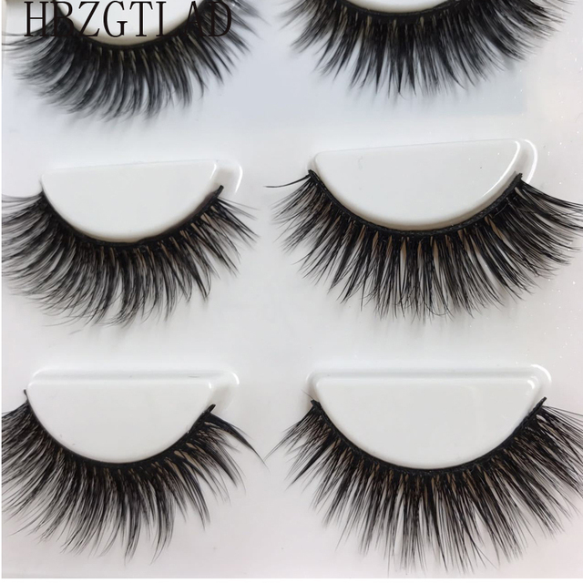 9123166d9c4 HBZGTLAD Sexy 100% Handmade 3D mink hair Beauty Thick Long False Mink  Eyelashes Fake Eye