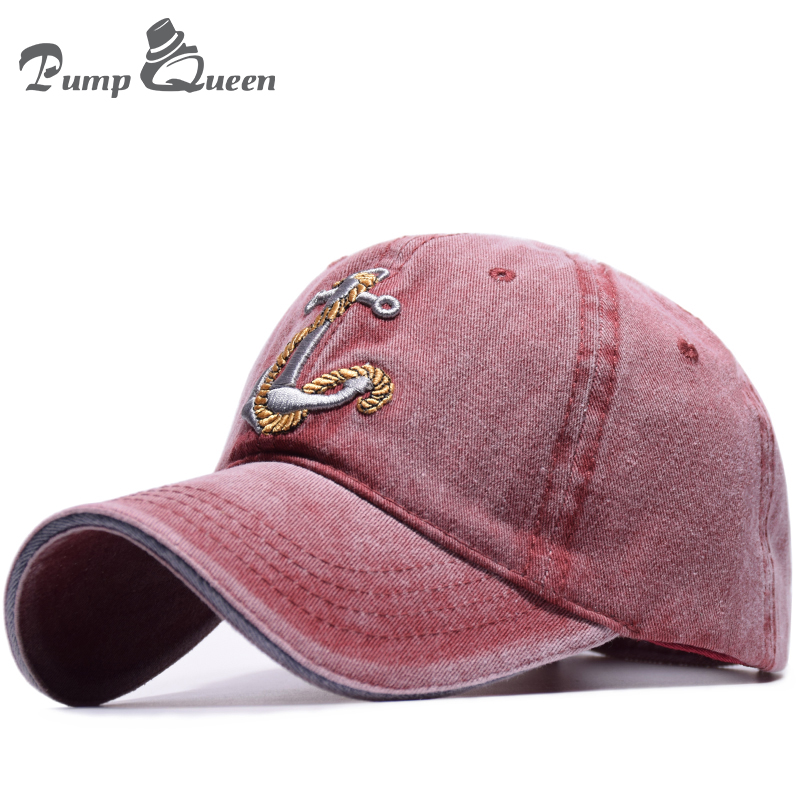 3fe36e4fe33 Detail Feedback Questions about Pump Queen New Vintage Style Baseball Cap  Old Pirate Ship Anchor Embroidery Snapback Caps Fashion Sports Hats Men  Women Sun ...