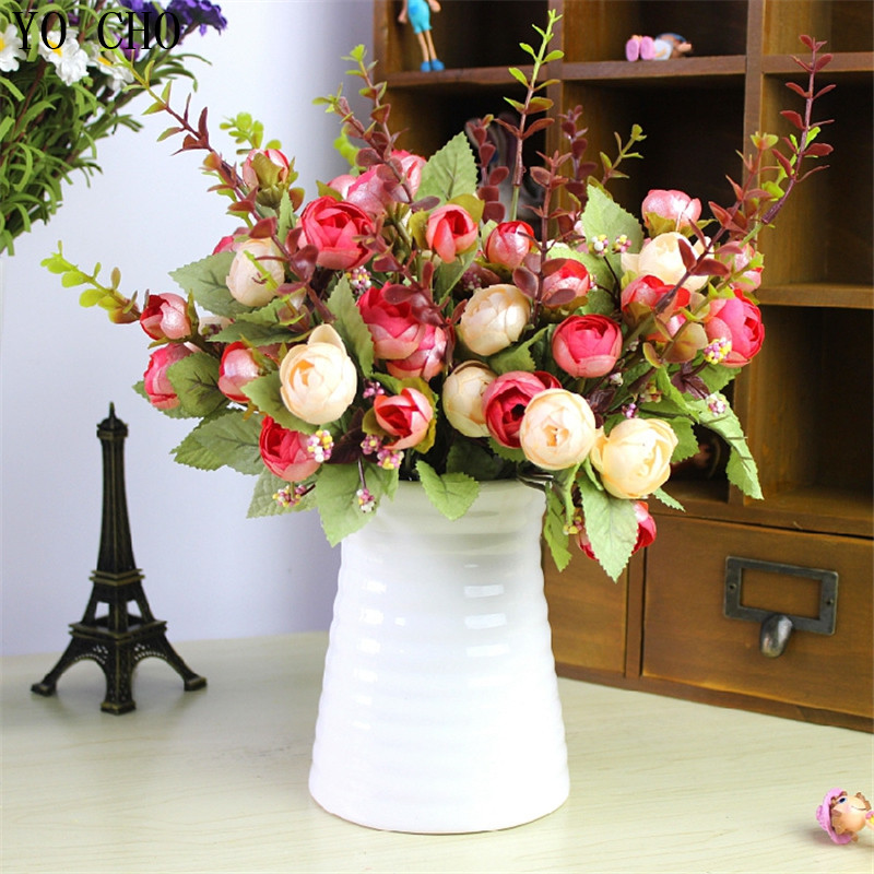buy 21 heads spring fake silk flowers