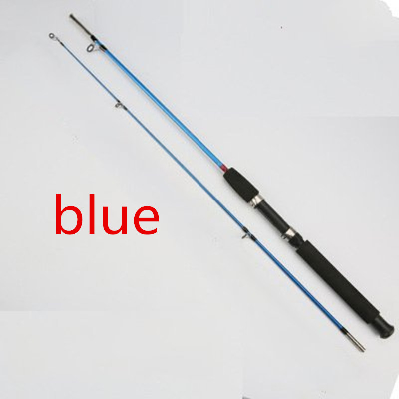 Neue Ankunft 1,2 mt//1,35 mt//1,5 mt//1,8 mt//2,1 mt 2 Sec Spinning Rod M Power Fiberglas faser Locken Spinnrad Angelrute