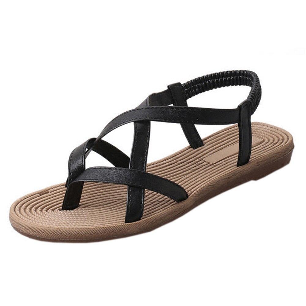 27b27398beb01 Letnie buty damskie buty płaskie buty bandaż czechy wypoczynek pani sandały  Peep-Toe zewnątrz sapato feminino Sandały gladiatorki kobiety A8