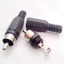 10pcs/lot Factory Wholesale RCA Male Connecting Terminal Welding Lotus Socket
